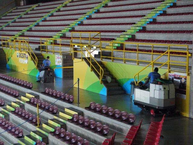 Pulire e Riciclare S.r.l. pulisce il palazzetto dello sport di Verona
